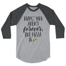 Cute Feminist T Shirt Diamonds Aren't Forever - 3/4 sleeve raglan shirt (More colors) - Everyday Unicorns
