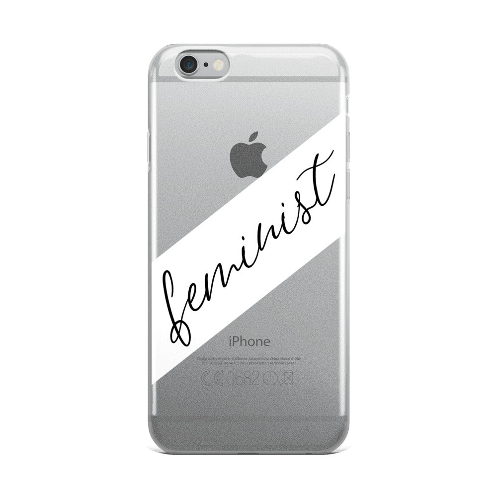 Cute Feminist T Shirt Feminist Script iPhone Case - Everyday Unicorns