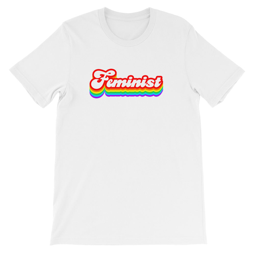 Cute Feminist T Shirt Rainbow Feminist Tee - Short-Sleeve Unisex T-Shirt - Everyday Unicorns