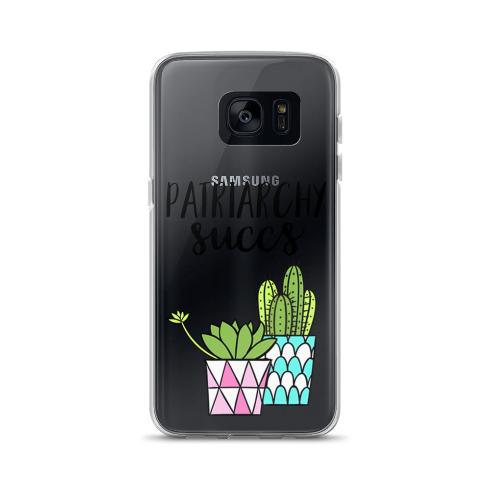 Cute Feminist T Shirt Patriarchy Succs Samsung Case - Everyday Unicorns