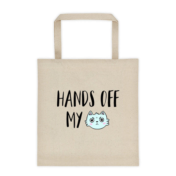 Cute Feminist T Shirt Hands Off My ______ Tote Bag - Everyday Unicorns