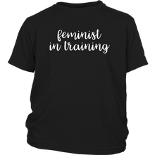 Cute Feminist T Shirt Feminist in Training - Kids/Babies Sizes - Everyday Unicorns