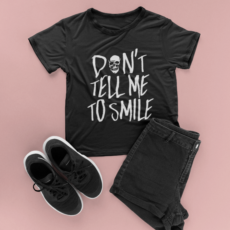 Cute Feminist T Shirt Don't Tell me to Smile tee - Ships fast! - Everyday Unicorns
