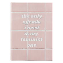 Cute Feminist T Shirt Pink My Feminist Agenda Hardcover Journal - Ships fast! - Everyday Unicorns