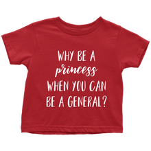 Cute Feminist T Shirt Princess/General Baby Bodysuit, Infant Tee, Toddler Tee, and Kids Tee - Everyday Unicorns