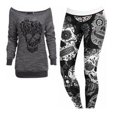 Women's Grey Sugar Skulls Outfit