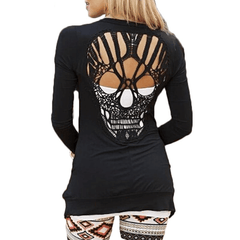 JLS™Skull Hollow Out Sweater