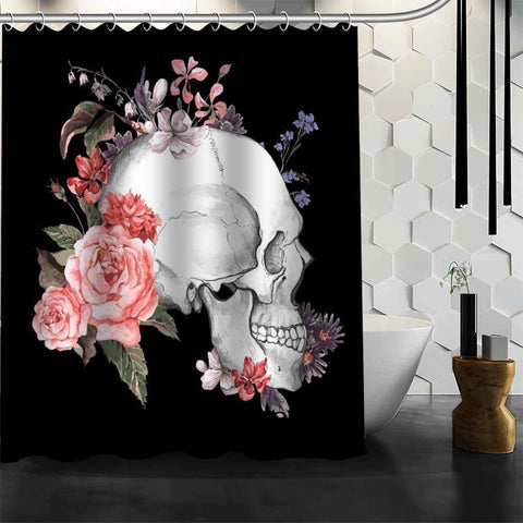 JLS™Rose Skull Curtain