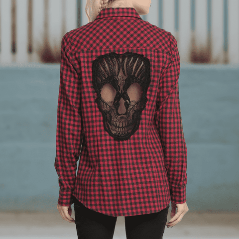 JLS™Skull Hollow Out Shirt