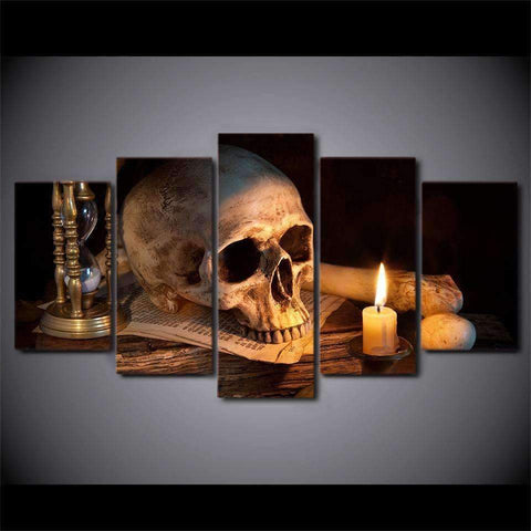 JLS™Skull Burning Candle Wall Art