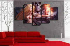 JLS™Skull Anime Painting Wall Art
