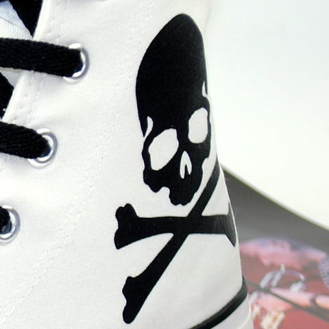 Skull & Bones Women's High Top Canvas Shoes