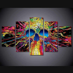 JLS™5 Panels Skull Wall Art