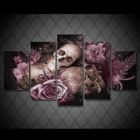 JLS™Skull And Rose Wall Art