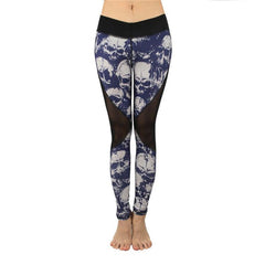 Skull Push Up Printed Leggings