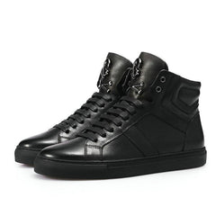 JLS™Genuine Leather Lace-Up Skull Shoes