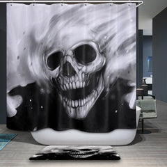 JLS™Black & White Skull Curtain