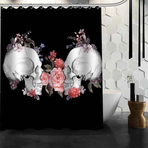 JLS™Rose Skull Curtain - COUPLE EDITION