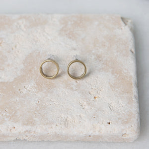 Brass Earrings - Circles