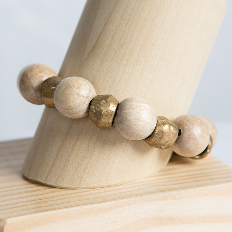 Binary Stretch Bracelet - Sand