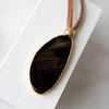 Agate Slice Leather Necklace