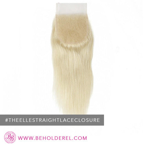 Brazilian Body Wave<br>Lace Closure<br>(The Elle Straight Lace Closure)