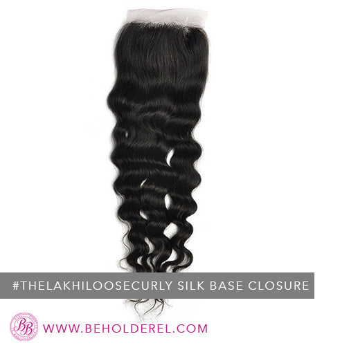Indian Loose Curly Silk<br>Base Closure<br>( The Lakhi Loose Curly Silk Base Closure )