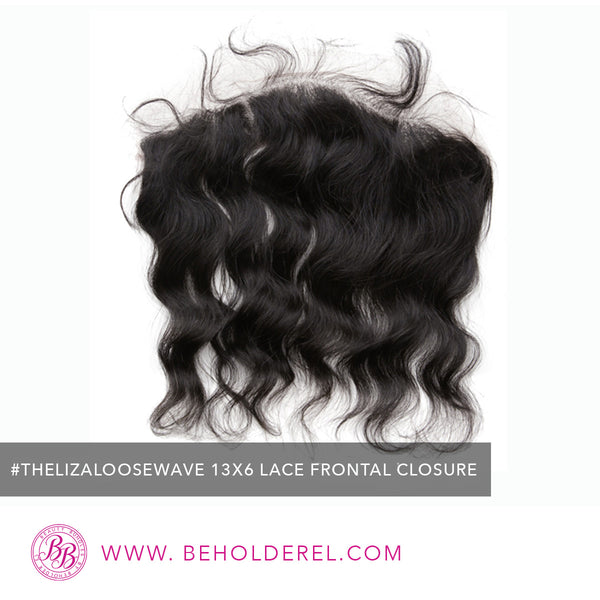 Malaysian Body Wave<br>Lace Frontal Closure<br>(The Liza Loose Wave 13 x 6 Lace Frontal Closure)