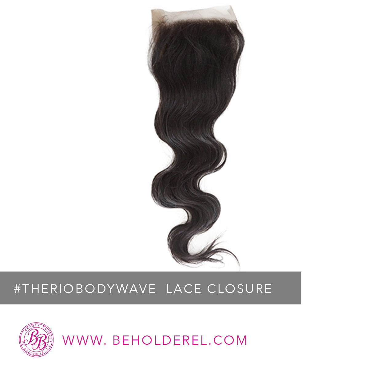 Brazilian Body Wave<br>Lace Closure<br>(The Rio Body Wave Lace Closure)