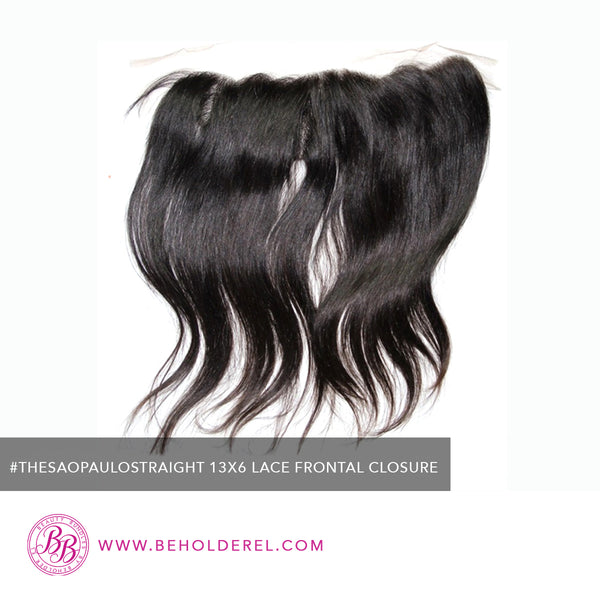 Brazilian Body Wave<br>Lace Frontal Closure<br>(The Sao Paulo Straight 13 x 6 Lace Frontal Closure)