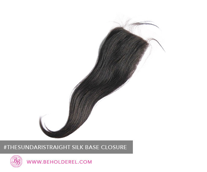 Indian Straight Silk<br>Base Closure <br>(The Sundari Straight Silk Base Closure)
