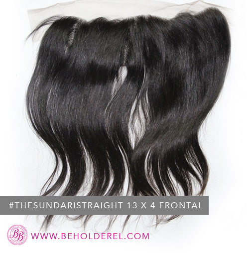 Indian Straight<br>Lace Frontal Closure <br>(The Sundari Straight Lace Frontal Closure 13x4)