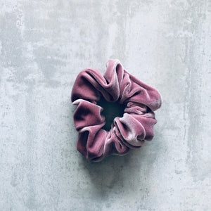 Load image into Gallery viewer, Hers & Mine,Velvet Scrunchie Rose, NZ Stockist, House Of Hair, Pleasant Point