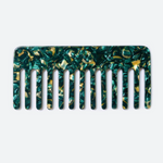 Emerald Marble Wide Tooth Comb