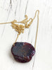 Garnet Raw Slice Necklace