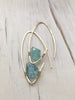 Raw Aquamarine Endless Hoop