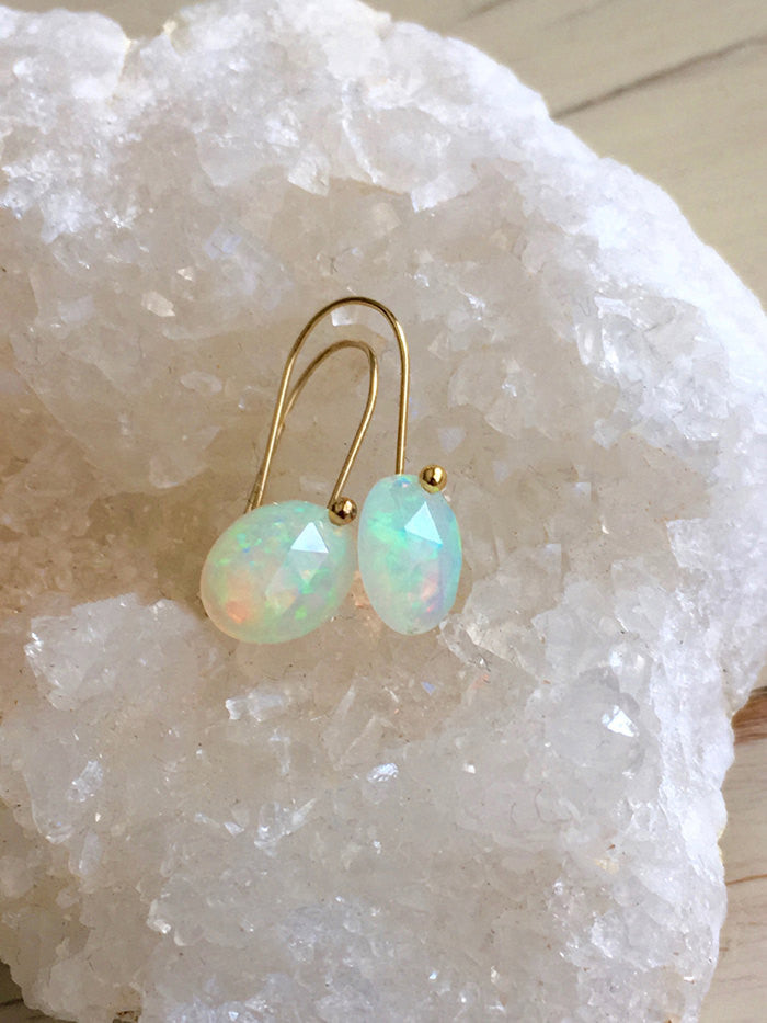 Welo Opal Rose Cut Earrings