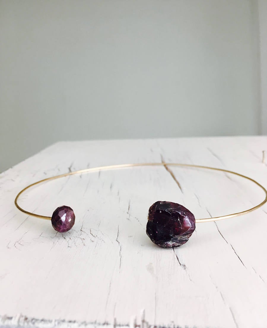 Raw Garnet And Ruby Chocker