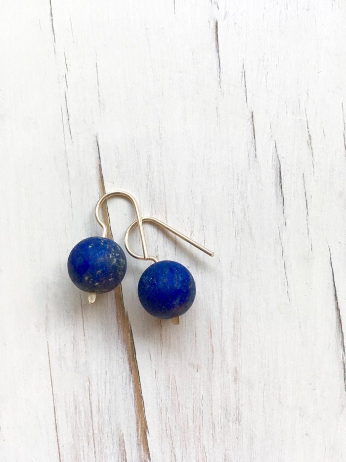 Modern Lapis Dangle Earring