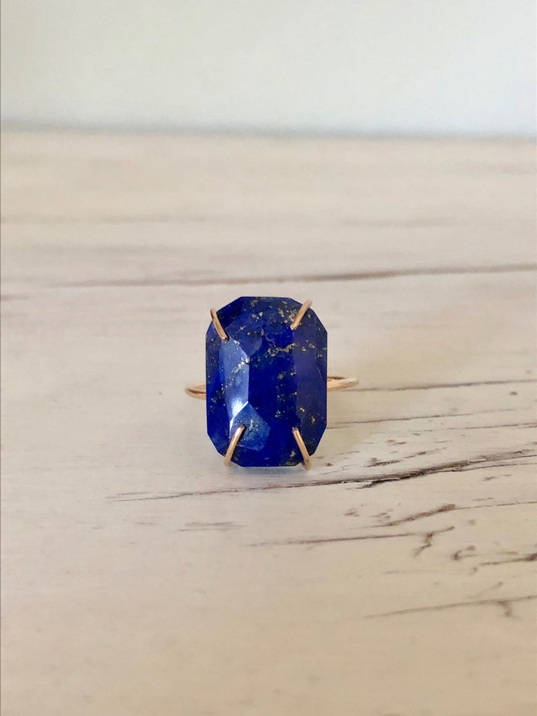 Lapis Ring Gemstone Ring Lapis Jewelry