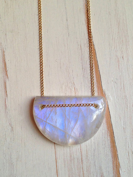 Moonstone Geometric Necklace