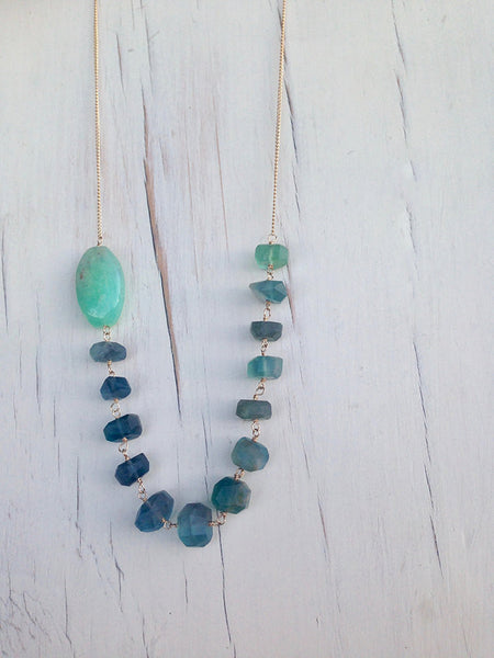 Fluorite Chrysoprase  Necklace