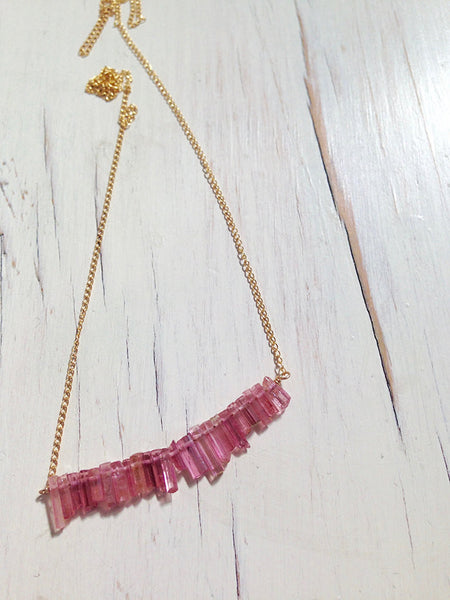 Tourmaline Raw Shard Necklace