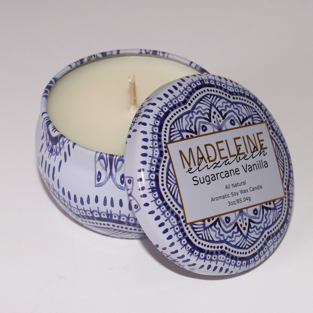 Sugarcane Vanilla Travel Candle