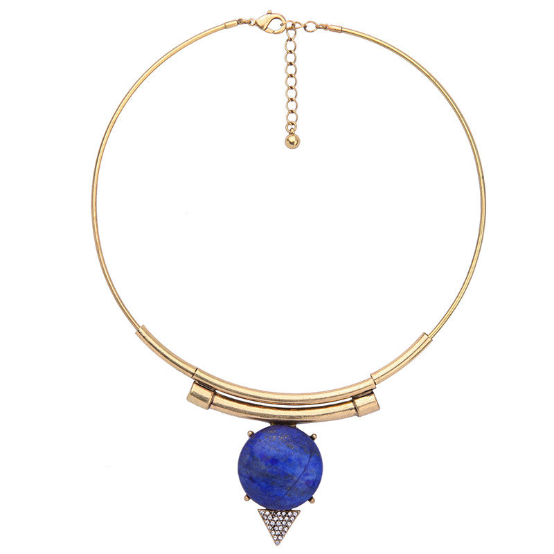 Lapis Statement Collar Necklace
