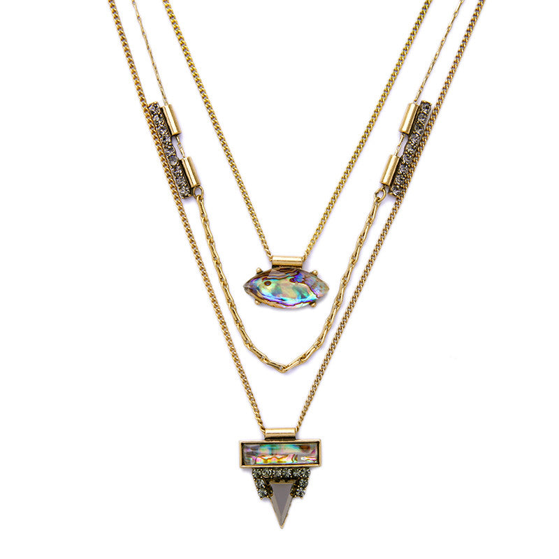 Layered Abalone Necklace