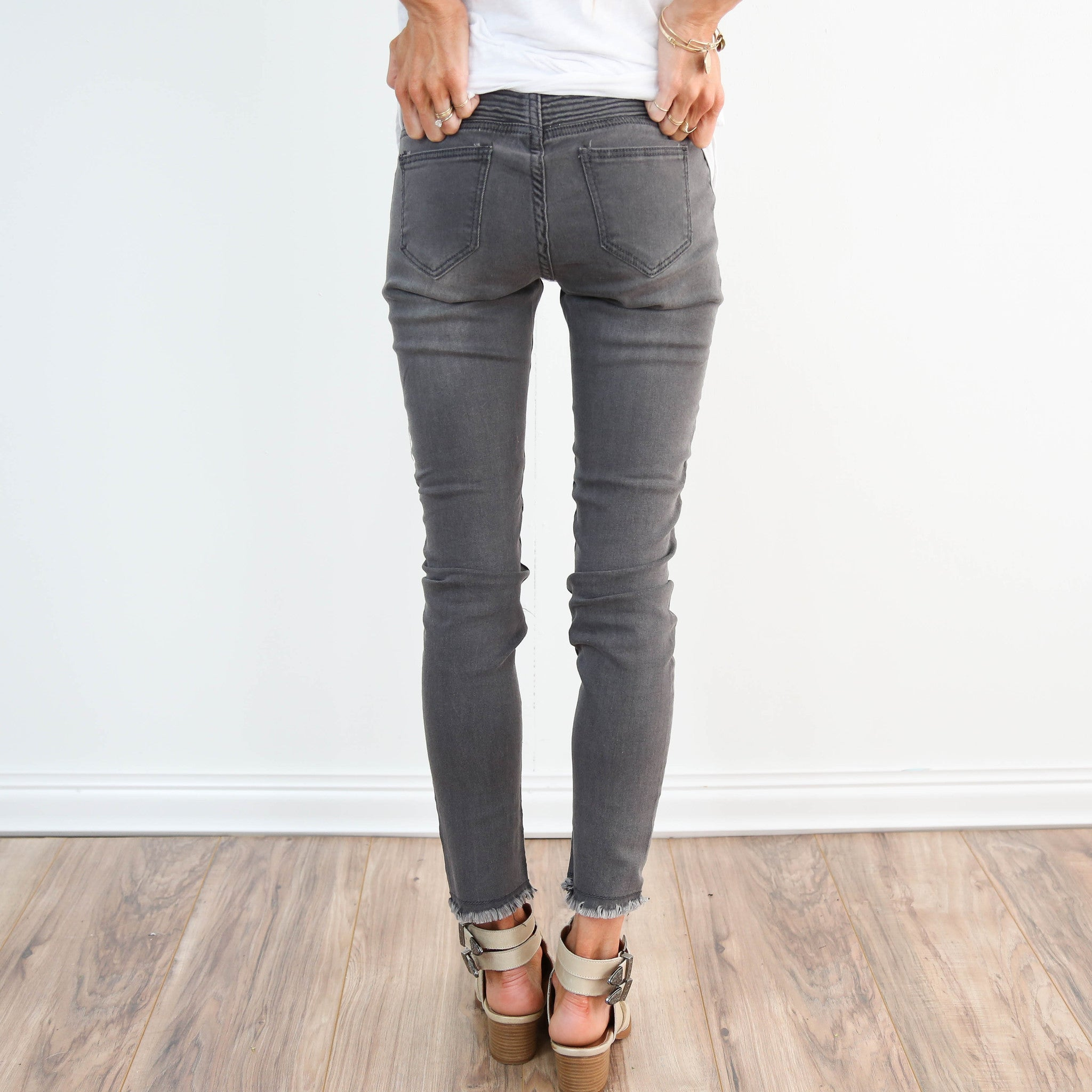 Grey Biker Denim