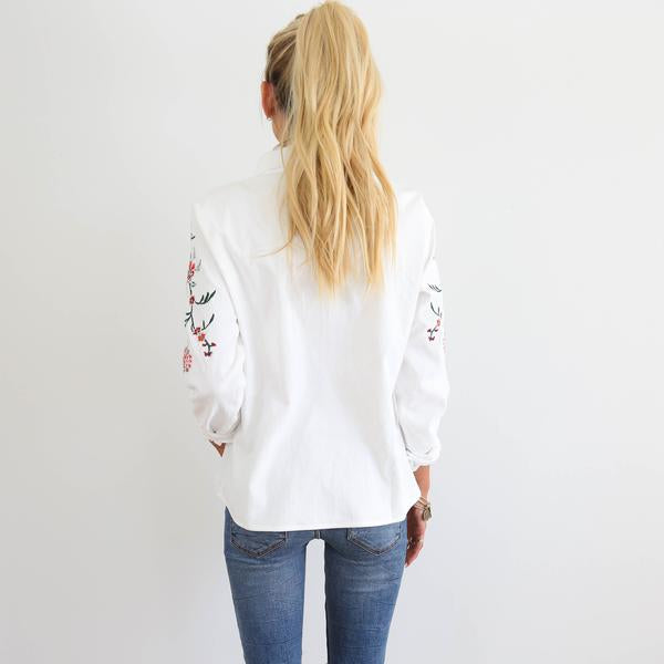 Lucille Embroidered Top