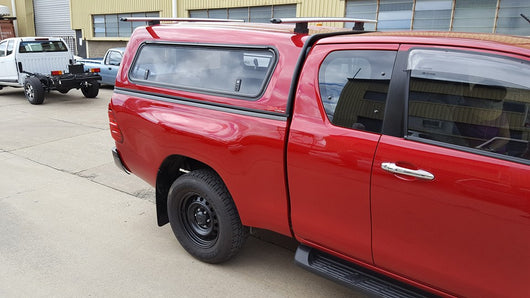 TRADIE SMOOTH CANOPY TO SUIT TOYOTA HILUX EXTRA/KING CAB 2016+