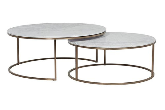 Delightful ... Luxe Marble Nesting Coffee Table Set ...